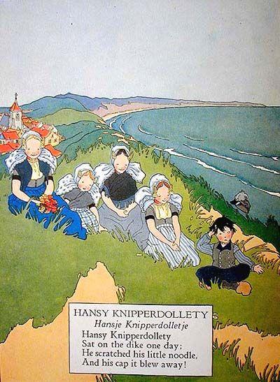 Illustratie uit het Engelstalige Tales told in Holland, waarin de volkscultuur uit Zeeland floreert.