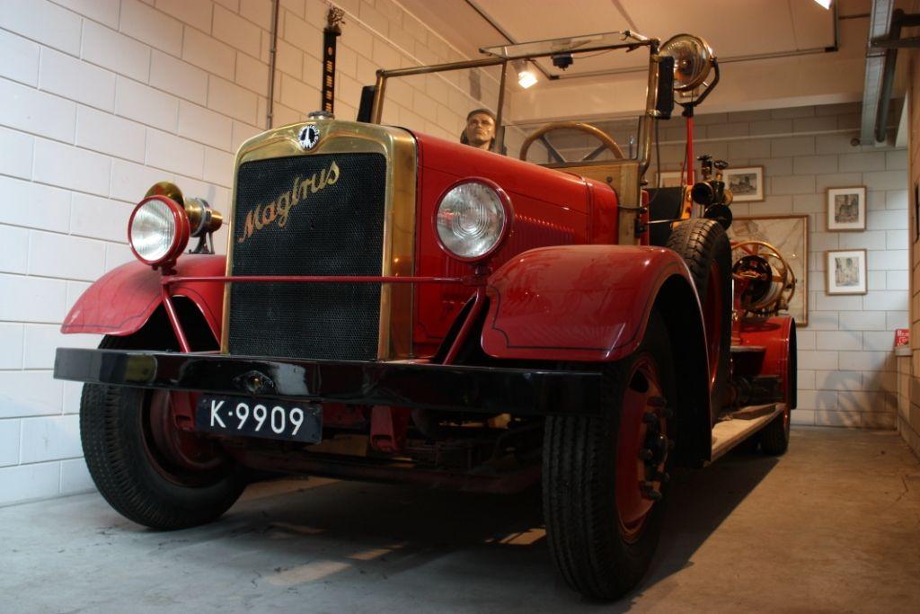 De Magirus brandweerwagen aan de Stromenweg, Middelburg.