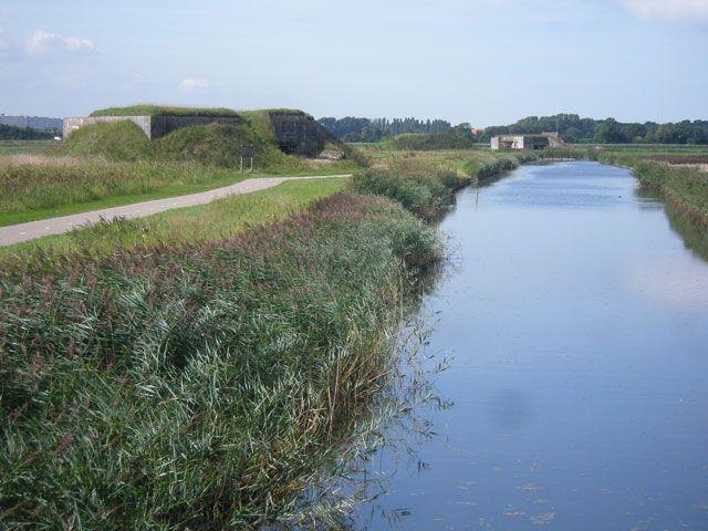 Bunkers en tankgracht aan het Bunkerpad in Nieuwe Abeele.