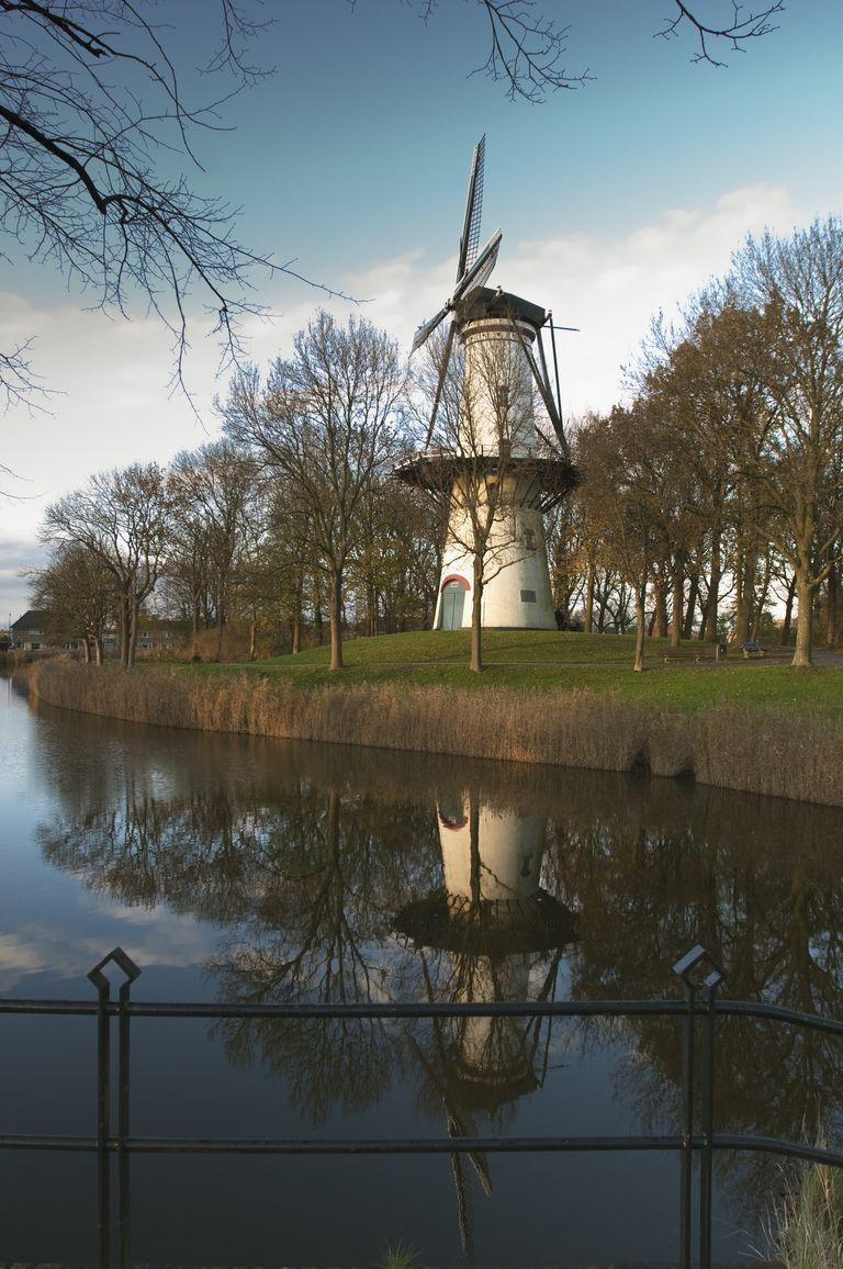 Molen De Hoop op het bolwerk in Tholen. (foto Ben Seelt voor DNA-beeldbank op www.laatzeelandzien.nl)