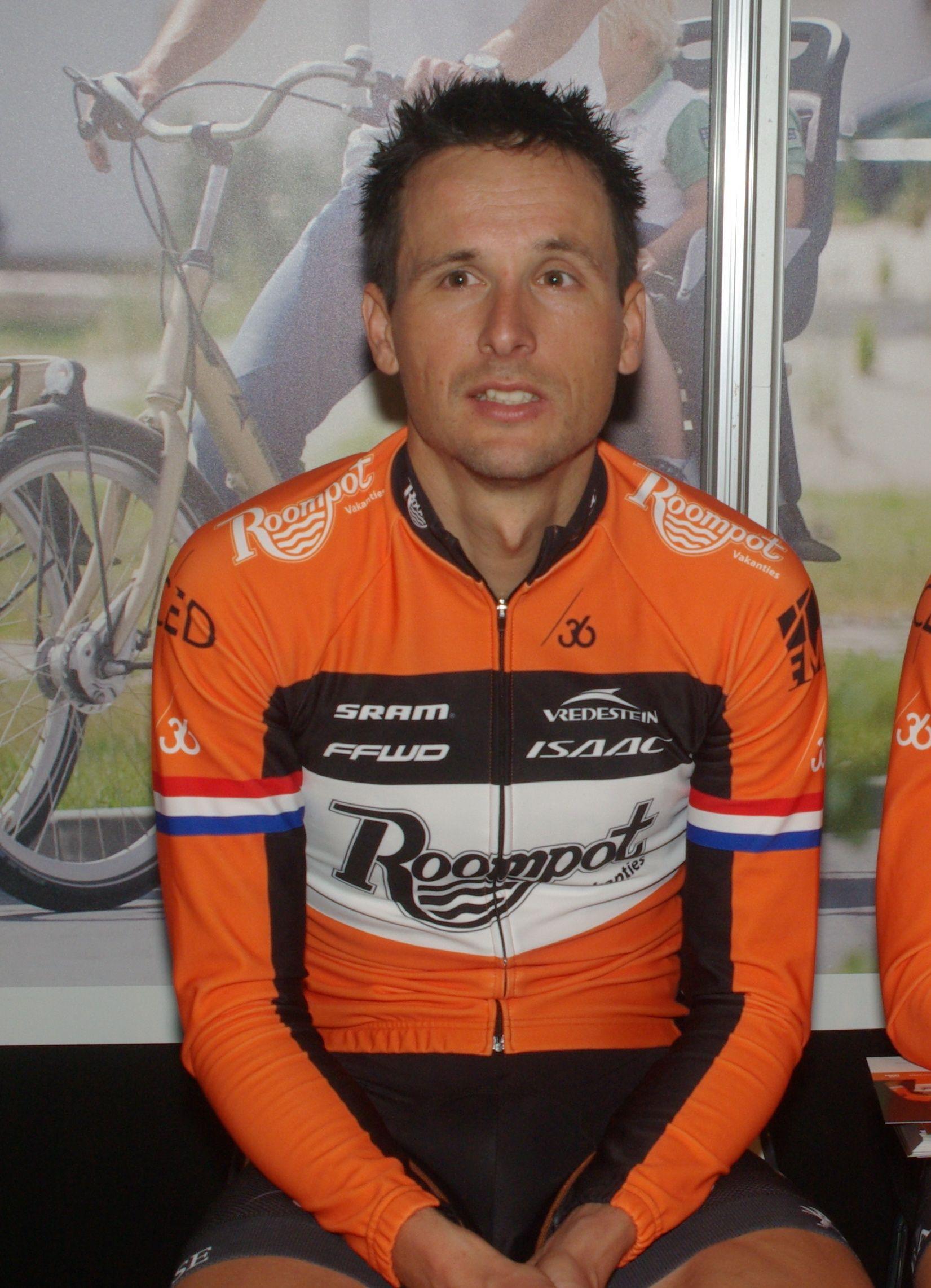 Johnny Hoogerland: een aanvallende renner die de strijd niet uit de weg gaat. (Foto Arnold Parre)