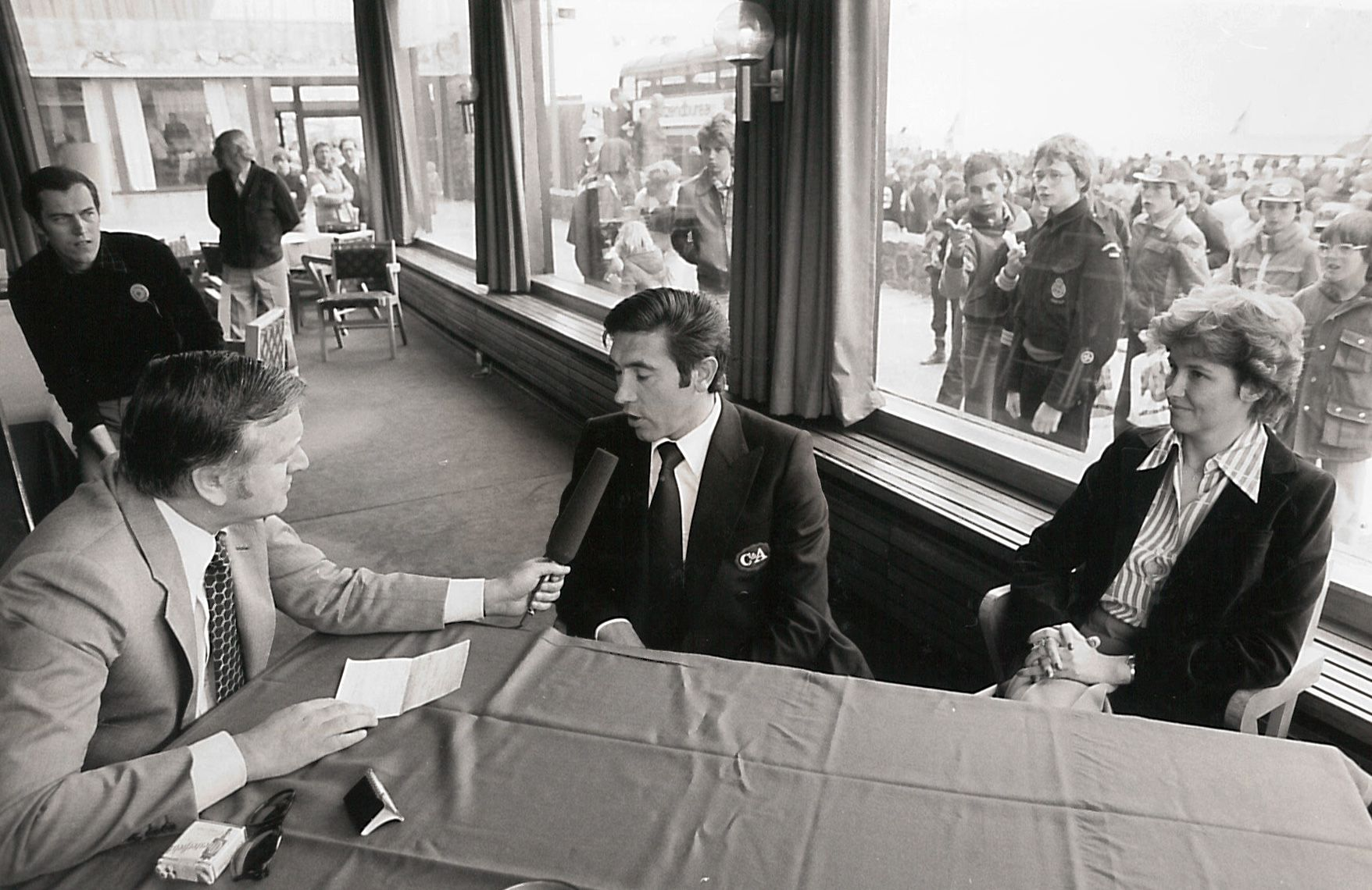 Eddy Merckx gaf op 20 mei 1978 een persconferentie in Vlissingen. (Foto Archief Omloop van de Boulevard)
