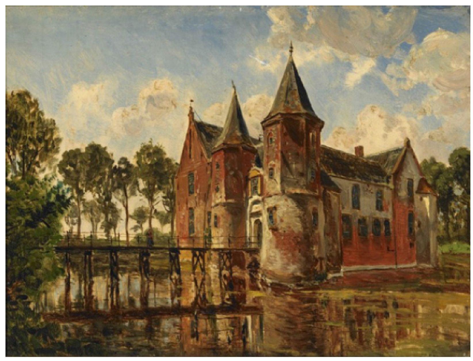 Gezicht op Popkensburg; door Willem Jan van den Berghe, tweede helft negentiende eeuw. (Koninklijk Zeeuwsch Genootschap der Wetenschappen)