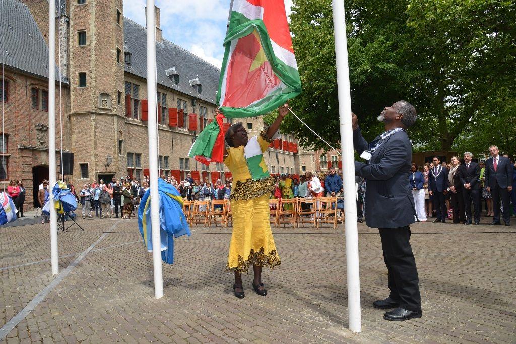 Nationale Herdenking Afschaffing Slavenhandel - Middelburg, 14 juni 2014. (Foto: Aart van Belzen)