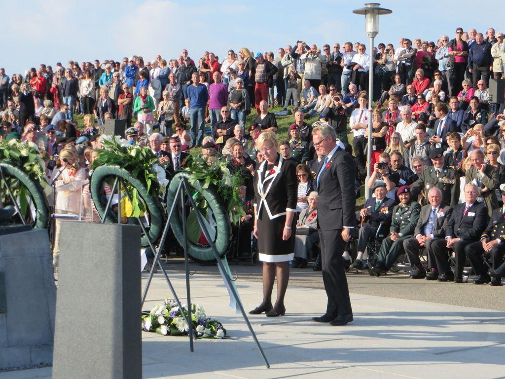 Herdenking Slag om de Schelde bij Uncle Beach - Vlissingen, 1 november 2014 (Beeldbank SCEZ)