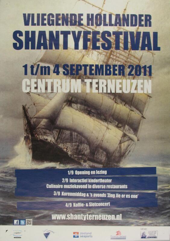 Affiche van het Shantyfestival in Terneuzen in 2011. (Zeeuwse Bibliotheek, Beeldbank Zeeland)