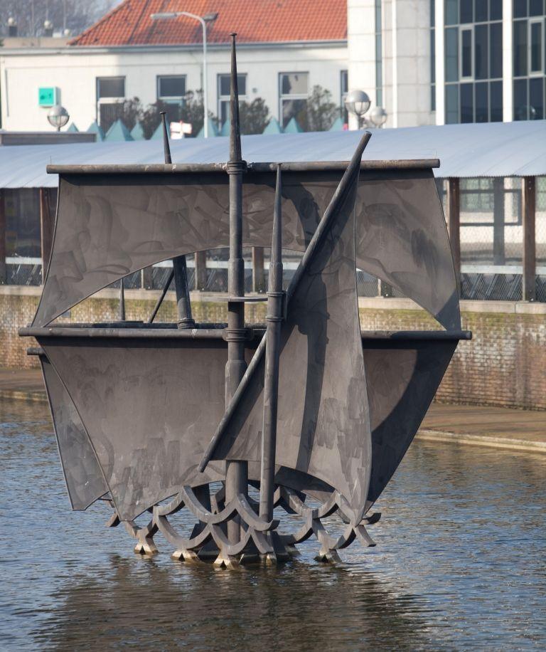 Het kunstwerk De Vliegende Hollander van Piet Griep. (Photographics voor DNA-Beeldbank Zeeland)
