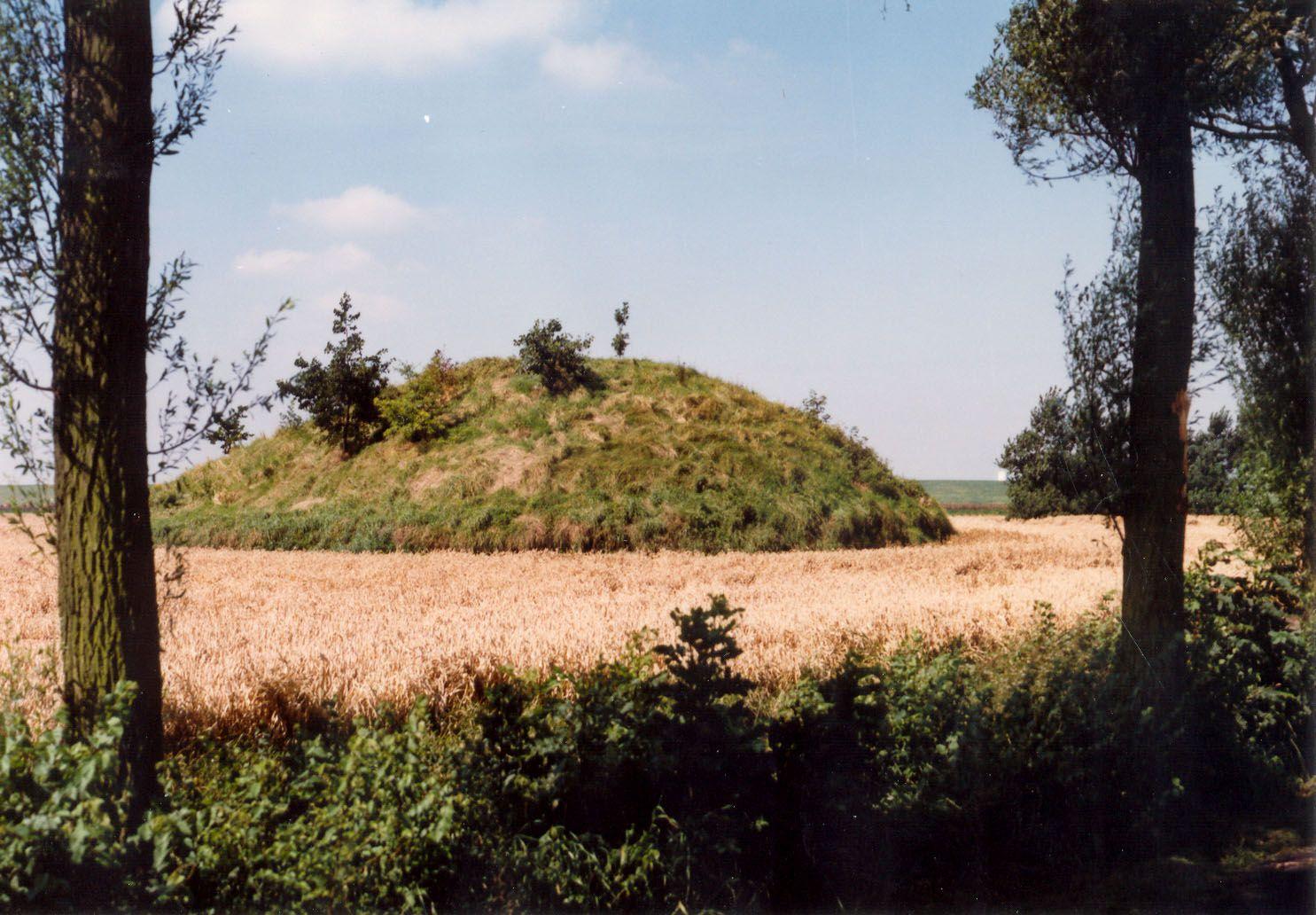 De vliedberg is nog het enige zichtbare overblijfsel van Coudorpe (Beeldbank SCEZ; foto B. Oele).