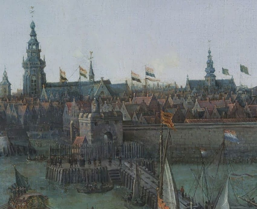 Oude Haven. Detail uit het schilderij.