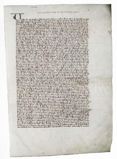 Afschrift uit 1324 van het Vlissingse stadsrechtdocument van 1315. (Nationaal Archief)