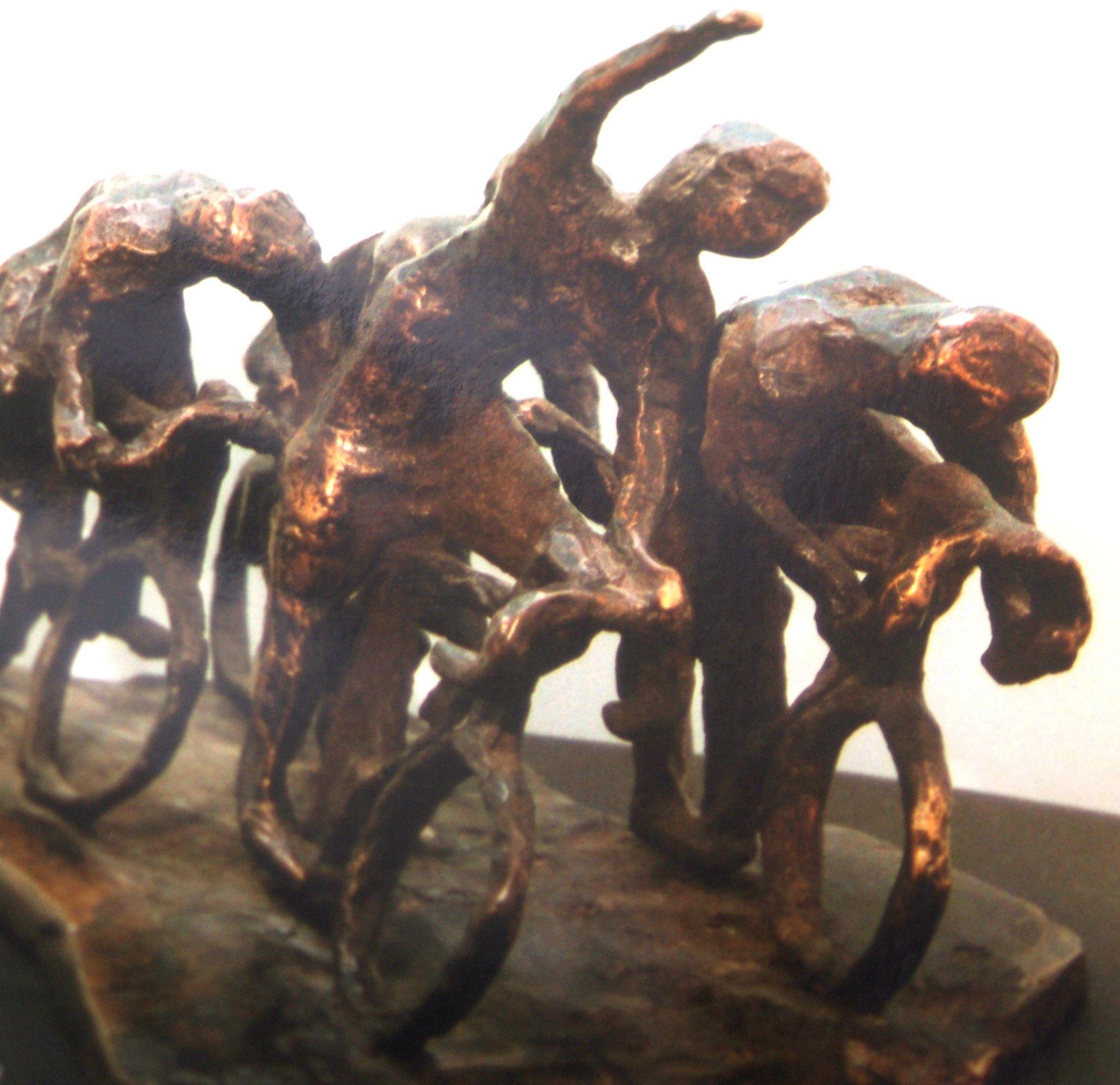 Bronzen sculptuur uit archief Ronde van Nederland. (foto Arnold Parre)
