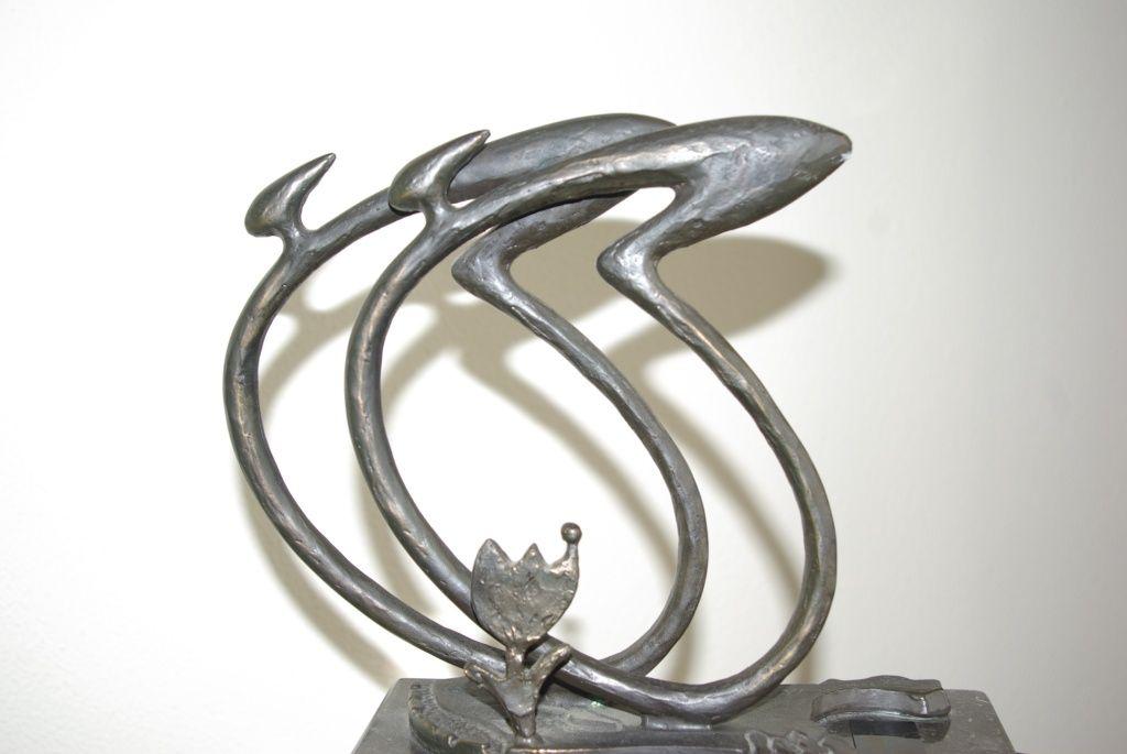 Sculptuur van de Eneco Tour 2003. (foto Arnold Parre)