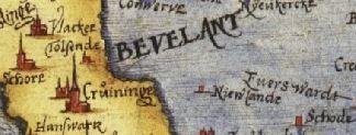 Op een uitsnede uit de kaart van Zeeland van Christiaan Sgrooten uit 1573 is het verdronken Nieuwlande opgetekend in het Verdronken land van Zuid-Beveland. (http://nl.wikipedia.org/wiki/Christiaan_Sgroten#/media/ File:10_Zelandicarum_1573_Sgrooten.jpg)