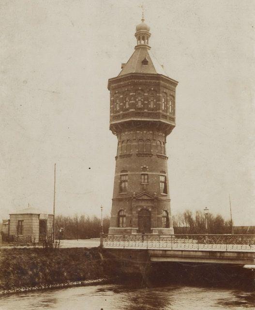 De Watertoren in de Badhuisstraat in 1897. (Beeldcollectie Gemeentearchief Vlissingen)