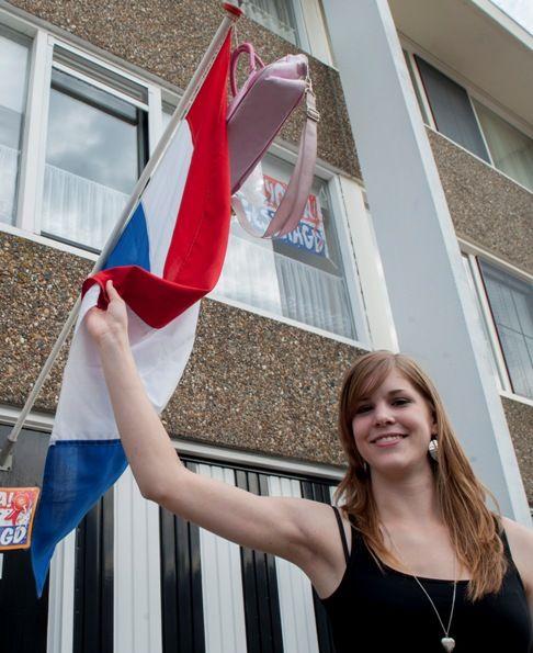 Geslaagd! Vlag en tas kunnen in top. (Beeldbank SCEZ, foto Dirk-Jan Gjeltema)