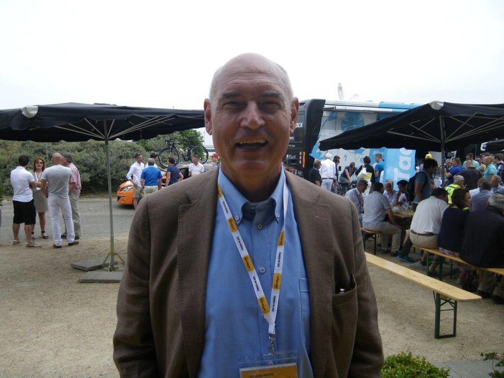 Herman Wijffels bij de Touraankomst op Neeltje Jans. (foto Arnold Parre)