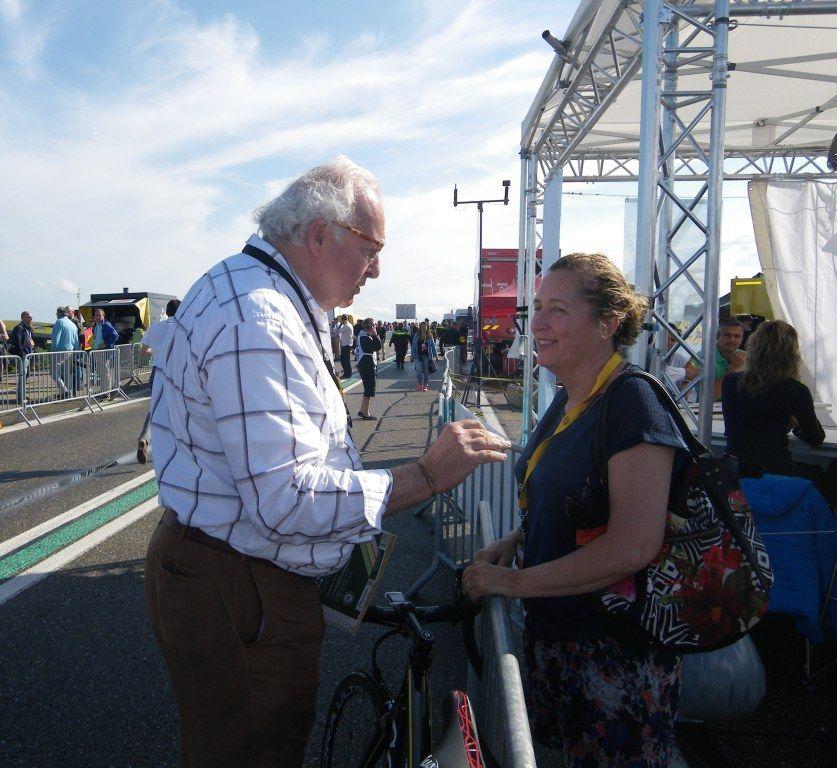 Mart Smeets had nog niet helemaal afscheid genomen van de Tour. (foto Arnold Parre)