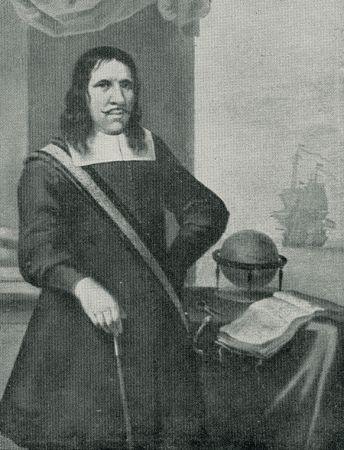 Isaac Rochussen nadat hij zich dankzij de opbrengsten van zijn succesvolle kaping van de Falcon, had gevestigd als reder te Vlissingen. (bron: R. Stoop, Portret van Isaac Rochussen, Vlissingen ca. 1680)