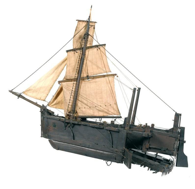 Scheepsmodel Krabbelaar; Museum Veere; datering: eind 18e eeuw; herkomst: Stedelijke Collectie Veere. (Ivo Wennekes)