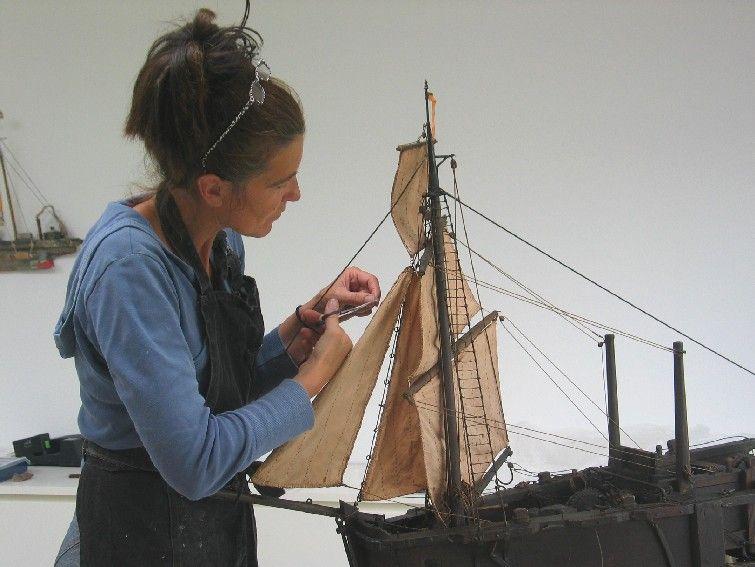 Scheepsmodel Krabbelaar; Museum Veere; restauratie 2007: Digna van den Broek, Navicula - Amsterdam.