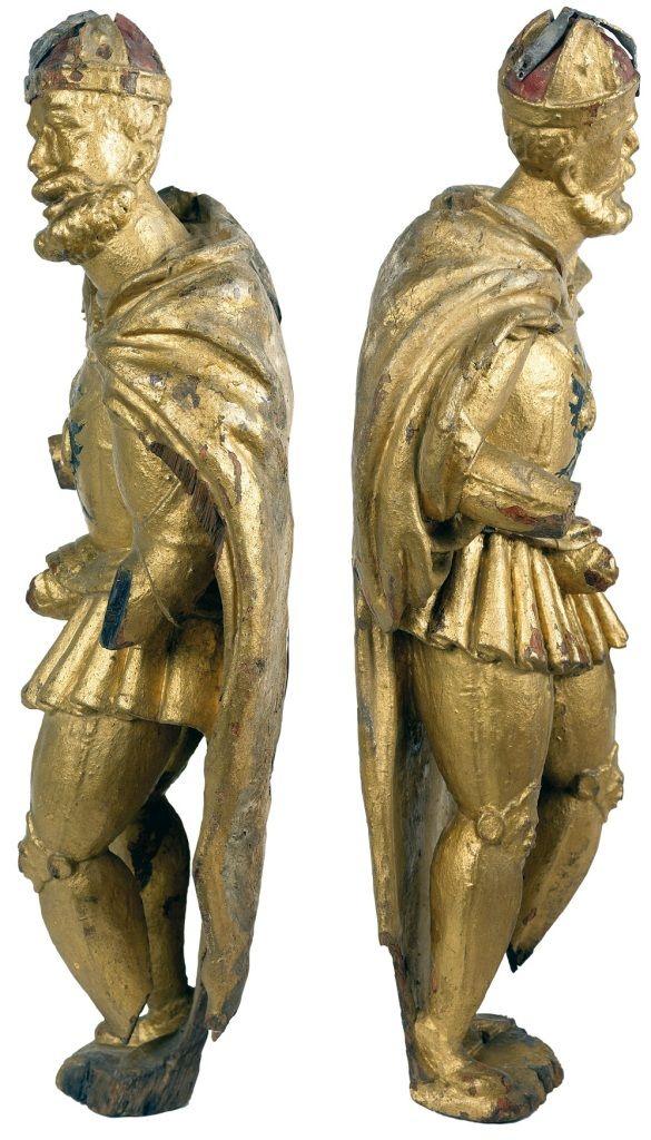 Beeld Karel V, linker- en rechterzijde. Historisch Museum de Bevelanden Goes; datering: circa 1550; herkomst: Stedelijke Collectie Goes. (Ivo Wennekes)