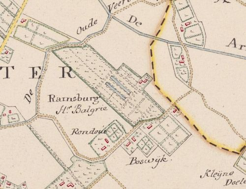 Ramsburg in het midden van de 18de eeuw. (Hattingakaart Walcheren)