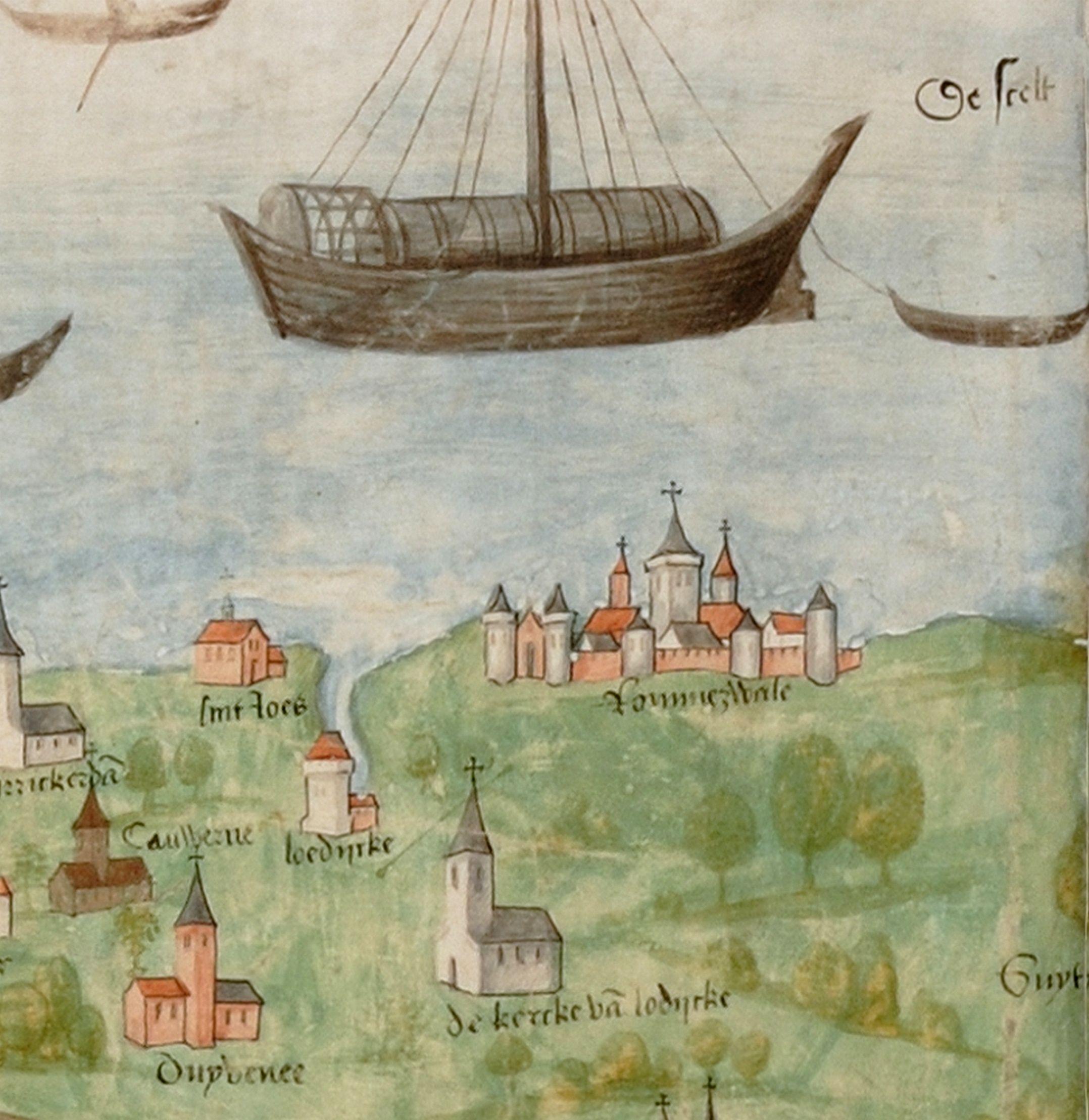 'Rommerswale', Lodijke en andere plaatsen op de Scheldekaart van 1504/05.