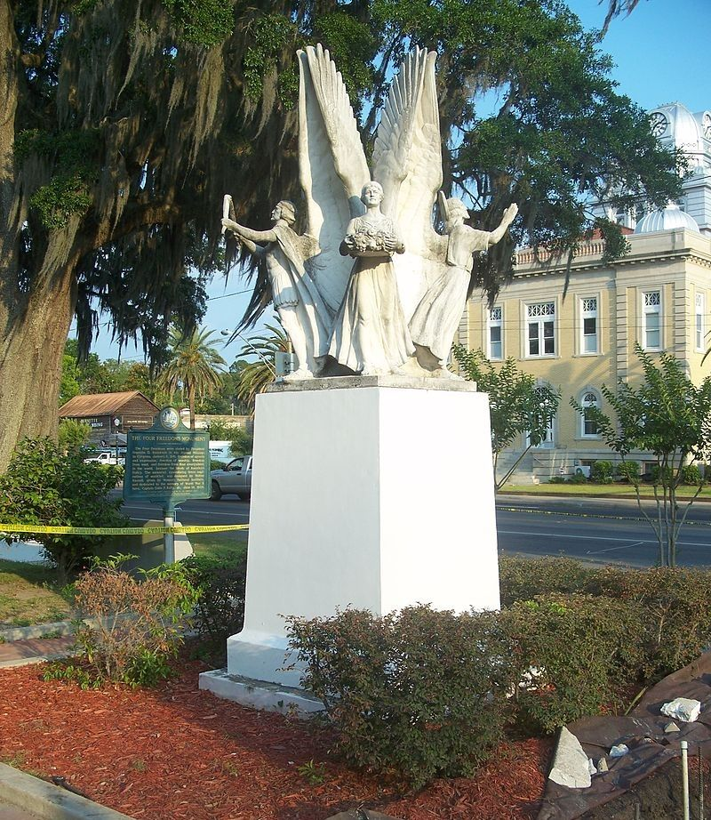 Vier Vrijheden-Monument in Madison, Florida. (Foto: Ebyabe via Wikimedia Commons)