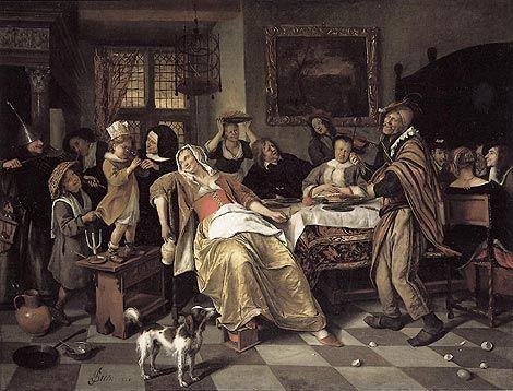 Het Driekoningenfeest, schilderij van Jan Steen (1662).