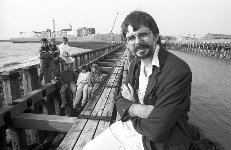 Wim Hofman in Vlissingen, circa 1990. (ZB, foto J. Wolterbeek)