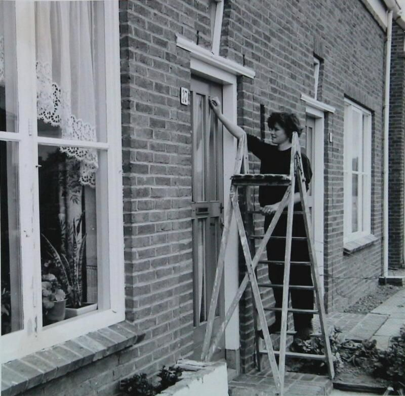 Ramen zemen in Lewedorp, 1963. (ZB, Beeldbank Zeeland)