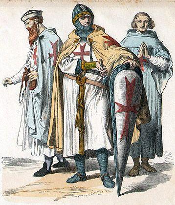 Historische illustratie van Tempeliers (ca. 1870).