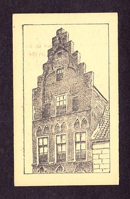 Huis De Haene (Tempelierenhuis), Zierikzee. Albumplaatje uit het Album