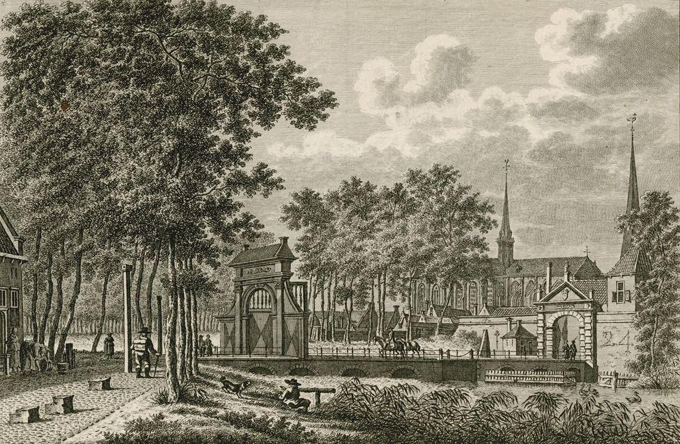 Gezicht op de Goese Zuidpoort of Gansepoort, 1793. (Zeeuws Archief, coll. Zeeuws Genootschap, Zelandia Illustrata)