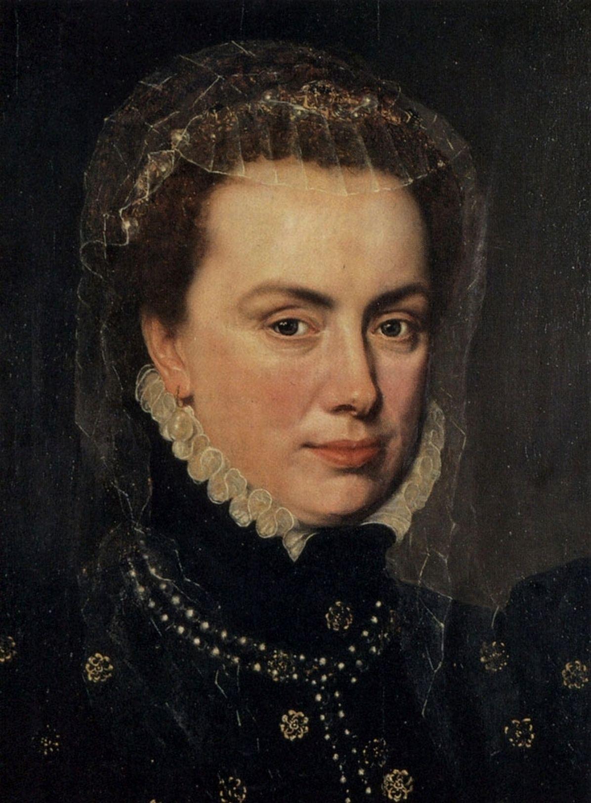 Portret van landvoogdes Margaretha van Parma. (Anthonis Mor, 1519-1575)