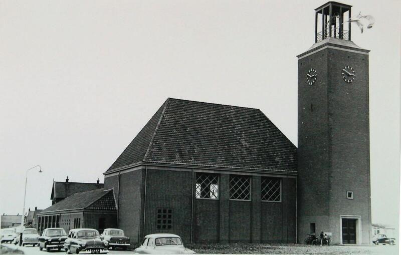 Ingebruikname Bethlehemkerk in Scharendijke, juni 1957. (ZB, Beeldbank Zeeland, fotoarchief PZC)