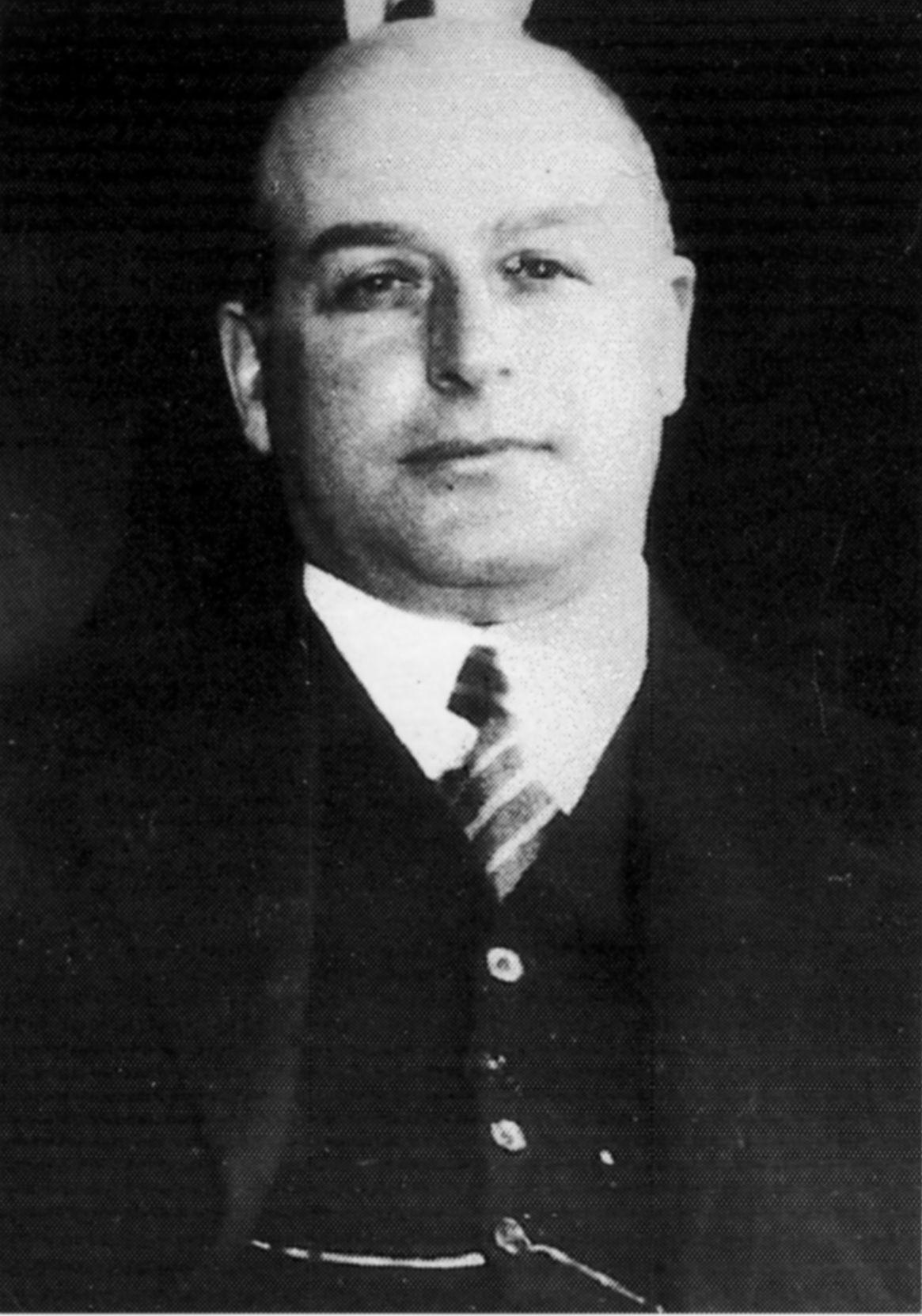 Portret van Marc Herman Boasson in 1939 (uitsnede uit de foto van de gemeenteraad hieronder).