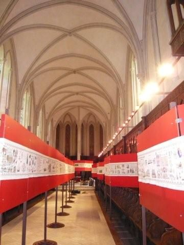 De Zeeuwse merklap Door Ons Gedaen in Bayeux in 2008. (Beeldbank SCEZ)