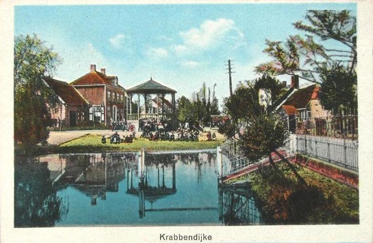 Prentbriefkaart met daarop de vate omstreeks 1920. (ZB, Beeldbank Zeeland)