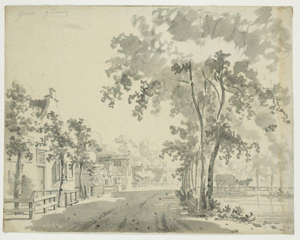 De vate op een tekening van Jan Bulthuis, 1790-1792. (Zeeuws Archief, KZGW, Zelandia Illustrata).