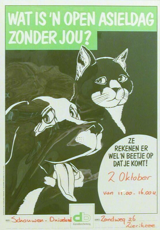 Affiche van de Open Asieldag in Zierikzee, 1993. (ZB, Beeldbank Zeeland)