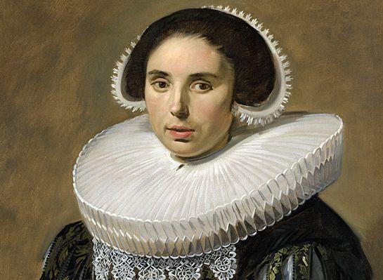 Portret van een vrouw met molensteenkraag, door Frans Hals, 1635 (Rijksmuseum, Amsterdam).