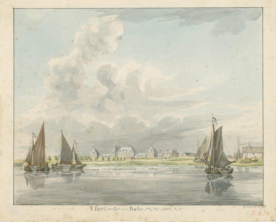 Fort Bath in 1803. Tekening G.J. de Keyser. (Zeeuws Archief, KZGW, Zelandia Illustrata, II-1635)