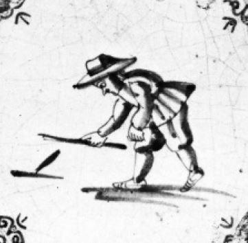 Pinkelen is al eeuwen oud en wordt al afgebeeld op 17de-eeuwse tegeltjes.