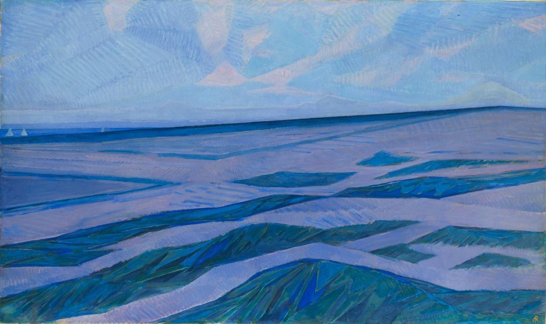 Duinlandschap bij Domburg, Piet Mondriaan, olieverf op canvas, 1911. (Collectie: Gemeentemuseum Den Haag)