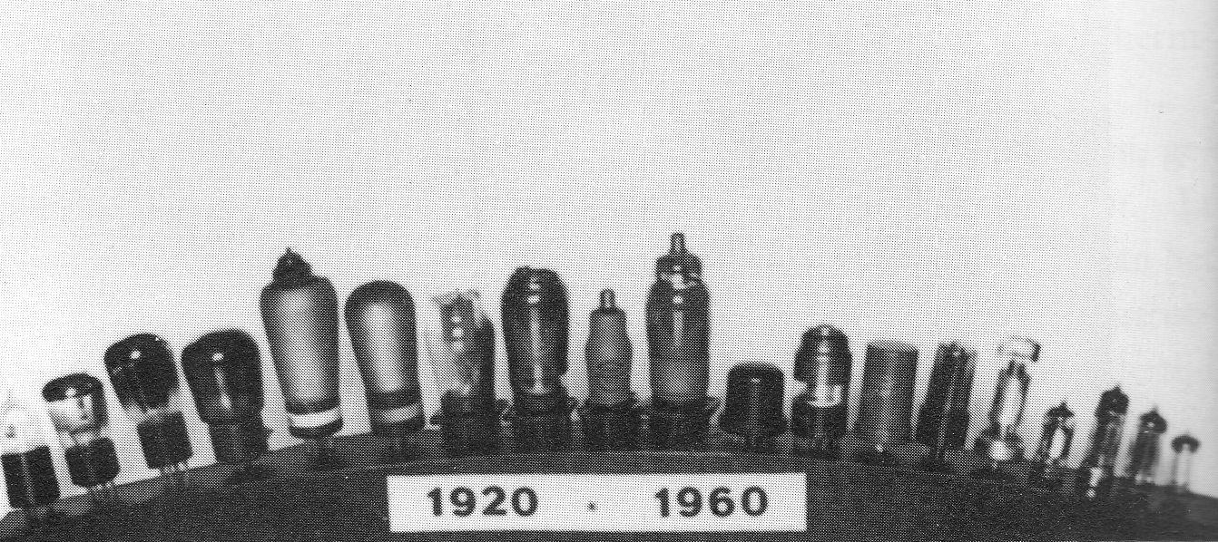 Radiolampen 1920-1960. (Foto: collectie auteur)
