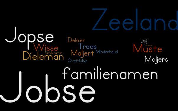 De naam Jobse hoort tot de top-50 van Zeeuwse namen.
