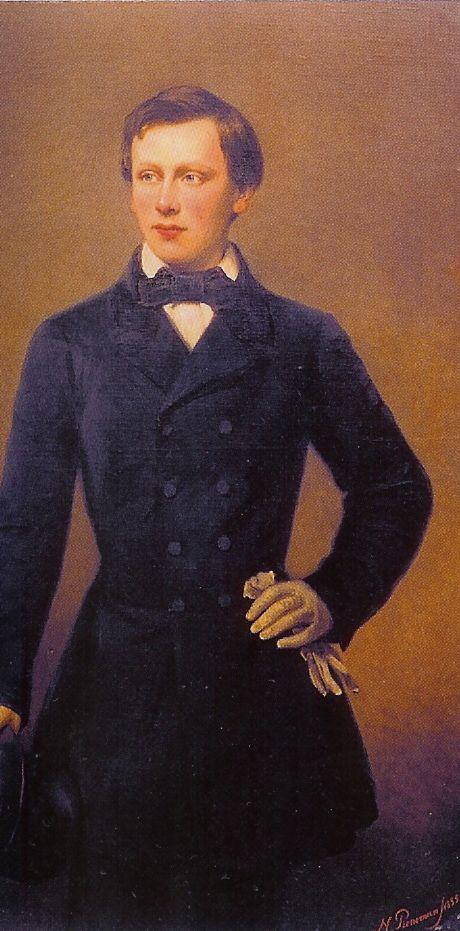 Portret van Willem, de oudste zoon van koning Willem III.