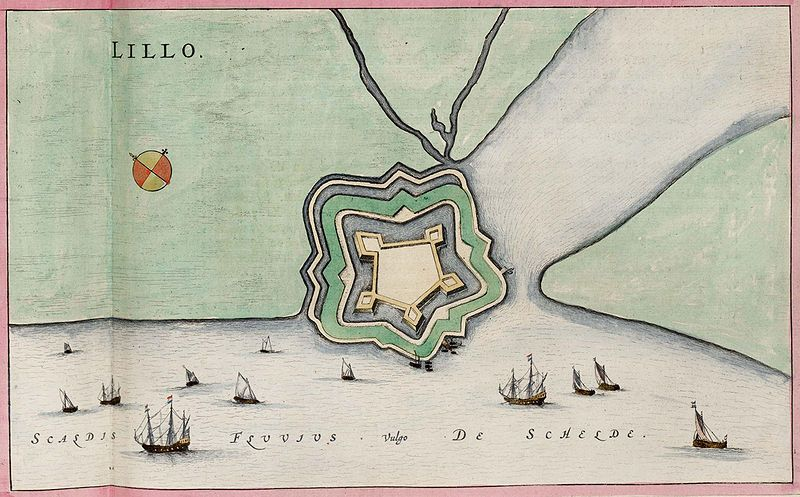 Fort Lillo; Atlas van Loon, 1649.
