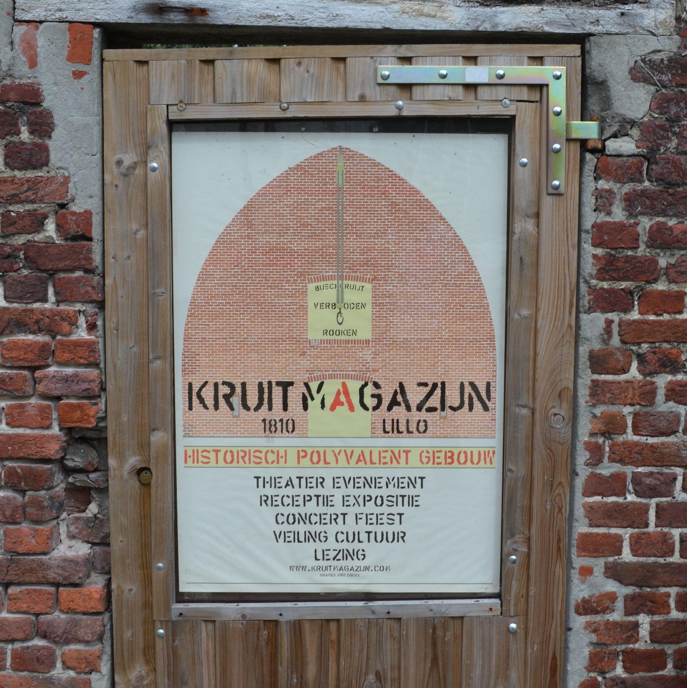 Het voormalige Kruitmagazijn in Lillo (foto H.M.D. Dekker).